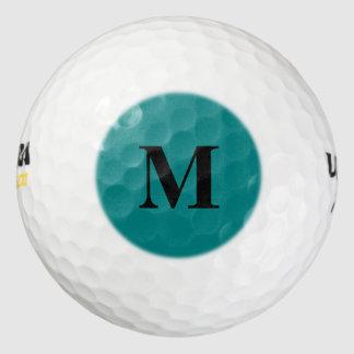 Teal Solid Color Golf Balls