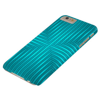 Teal Solid Stripes Pattern iPhone 6 Plus Case