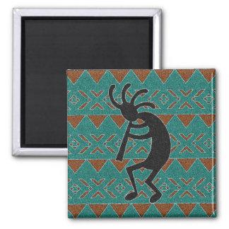 Teal Southwestern Design Kokopelli Magnet