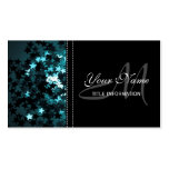 Teal Sparkly Stars Business Card Templates