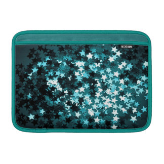 Teal Sparkly Stars Sleeves For MacBook Air