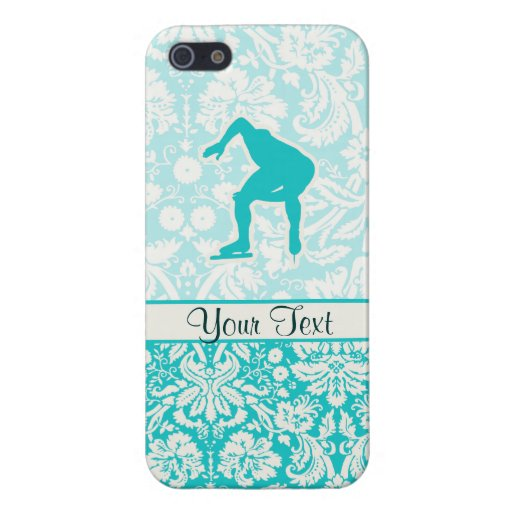 Teal Speed Skater Covers For iPhone 5