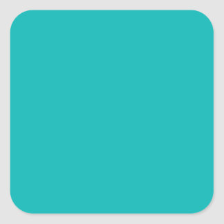 Teal Square Sticker