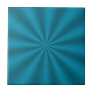 Teal Starburst Ceramic Tile