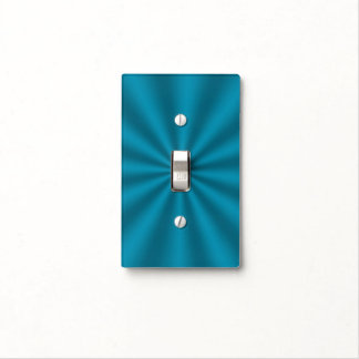 Teal Starburst Light Switch Cover