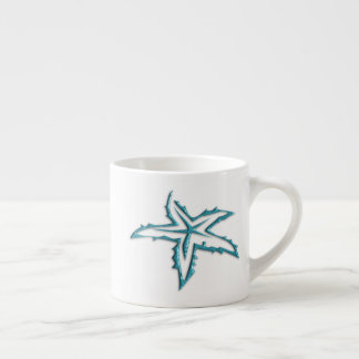 Teal Starfish Espresso Cup