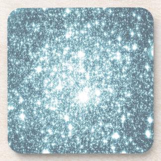 Teal Stars Coaster