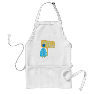Teal stop air pollution apron