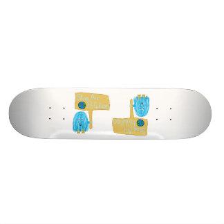 Teal stop air pollution skateboard deck