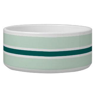 Teal Stripe Large Pet Bowl
