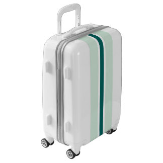 Teal Stripe Luggage Suitcase