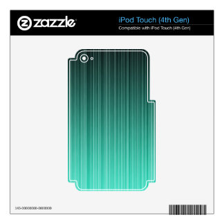 Teal Striped Decal For iPod Touch 4G