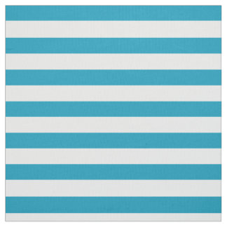 Teal Striped Fabric