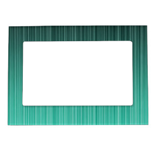 Teal Striped Magnetic Photo Frame