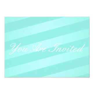Teal Striped Party Invitation
