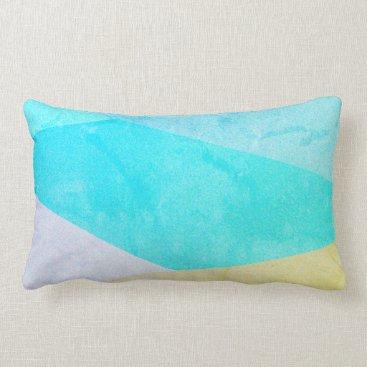 Beach Themed Teal Striped Pillow