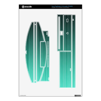 Teal Striped Skin For PS3