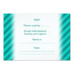 "Teal Stripes. 3.5"" X 5"" Invitation Card"