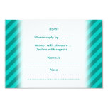 Teal Stripes. 3.5x5 Paper Invitation Card