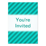 Teal Stripes. 5x7 Paper Invitation Card