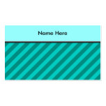 Teal Stripes. Business Card