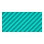 Teal Stripes. Customized Photo Card