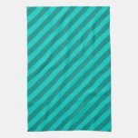 Teal Stripes. Hand Towels