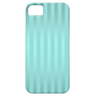 Teal Stripes iPhone 5 Barely There Case