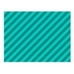 Teal Stripes. Postcard