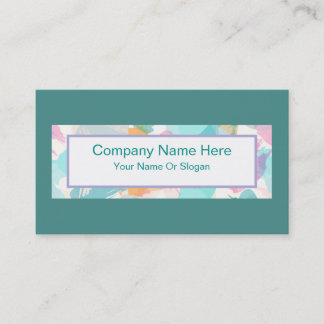 Teal Stylish Ladies Professional Business Card