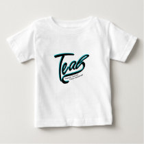 Teal Support Ovarian Cancer Awareness Baby T-Shirt