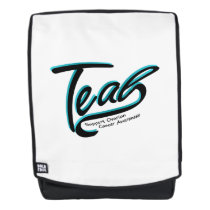 Teal Support Ovarian Cancer Awareness Backpack