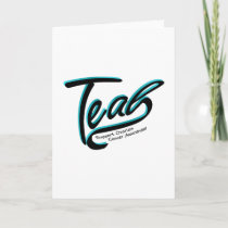 Teal Support Ovarian Cancer Awareness Card