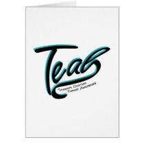 Teal Support Ovarian Cancer Awareness Card