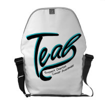 Teal Support Ovarian Cancer Awareness Courier Bag
