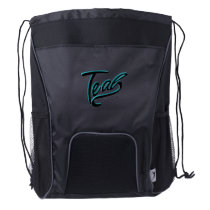 Teal Support Ovarian Cancer Awareness Drawstring Backpack