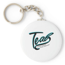 Teal Support Ovarian Cancer Awareness Keychain