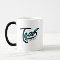 Teal Support Ovarian Cancer Awareness Magic Mug