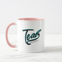 Teal Support Ovarian Cancer Awareness Mug
