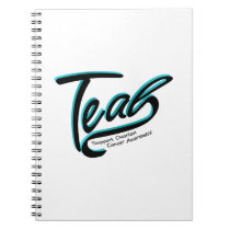 Teal Support Ovarian Cancer Awareness Notebook