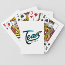 Teal Support Ovarian Cancer Awareness Playing Cards