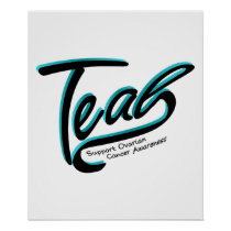 Teal Support Ovarian Cancer Awareness Poster