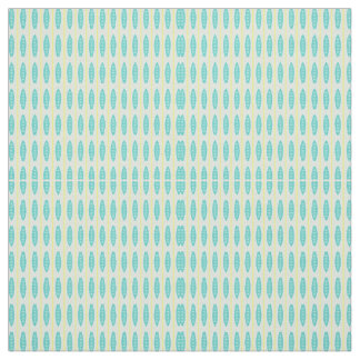 Teal Surfboards Pattern Fabric