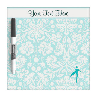Teal Surfing Girl Dry-Erase Boards