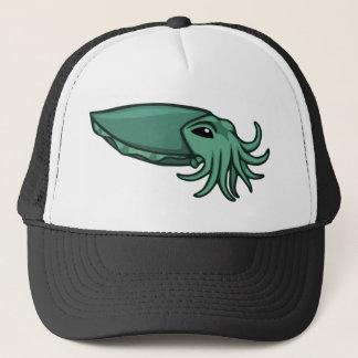 Teal Swimming Cuttlefish Trucker Hat
