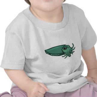 Teal Swimming Cuttlefish Tshirt