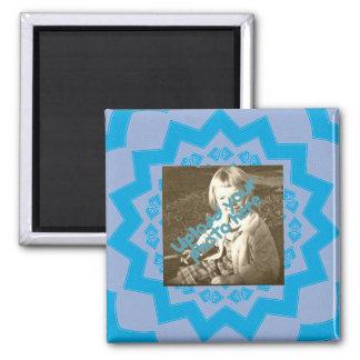 Teal Symmetrical Photo Backdrop Magnet
