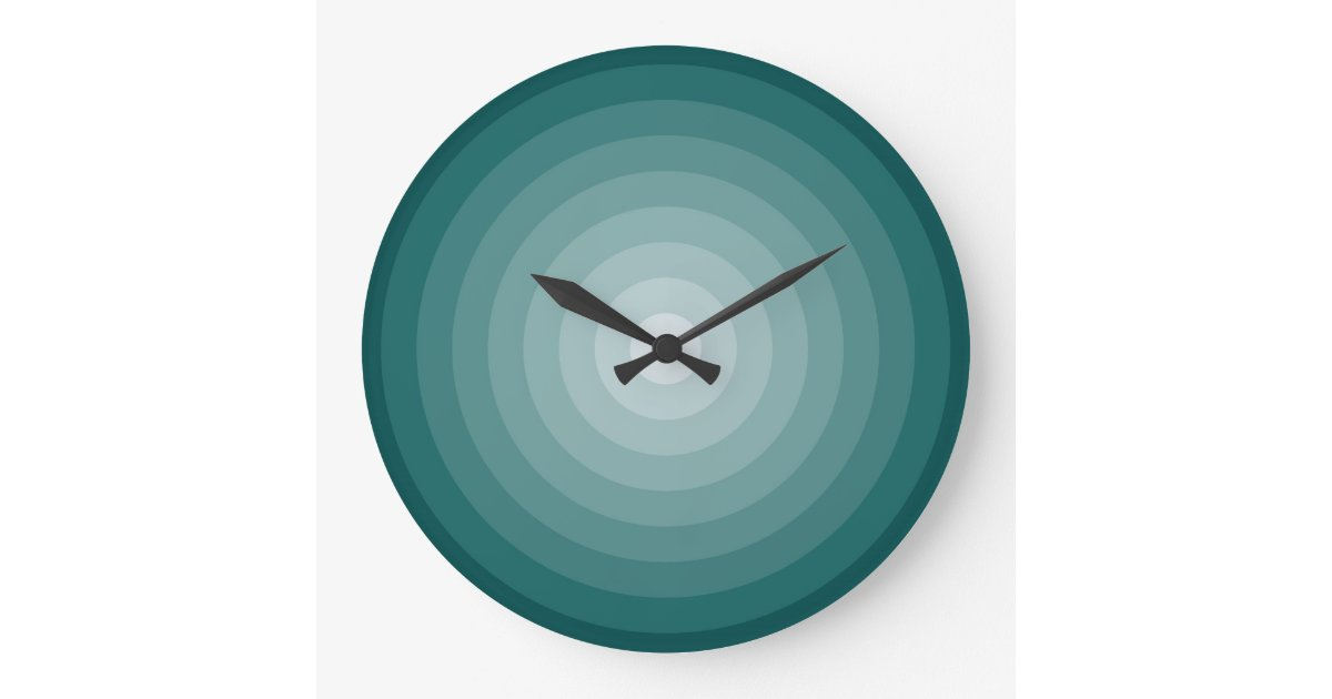 Teal target wall clock large zazzle for Large wall clocks target