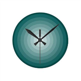 teal target wall clock medium