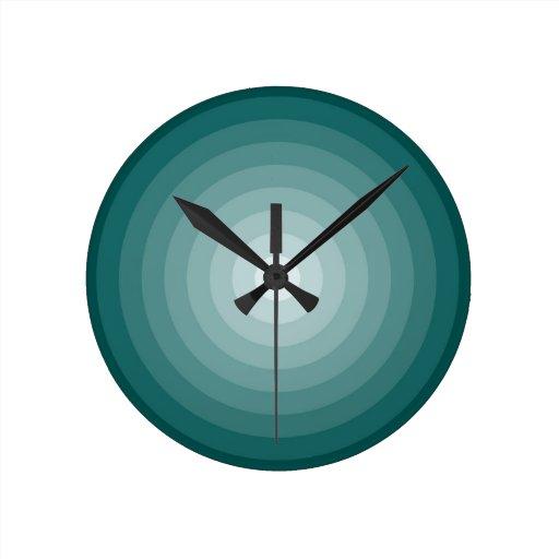 Target Wall Decor Clock : Teal target wall clock medium zazzle